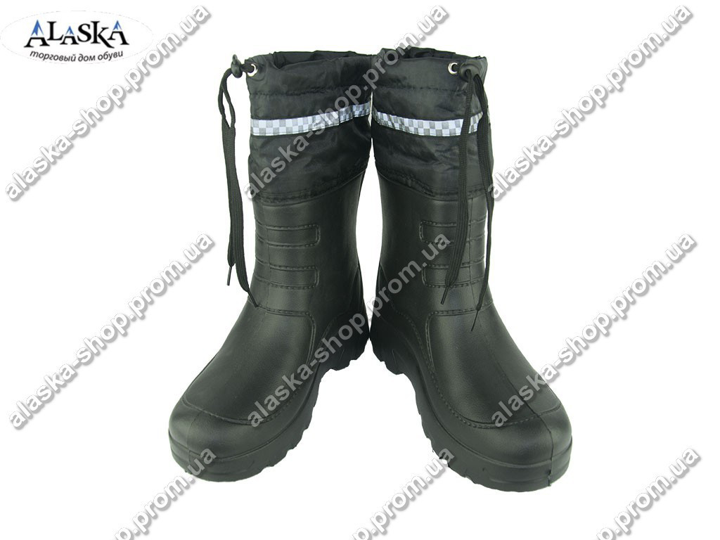 Мужские резиновые сапоги (Код: Б-12 черный )