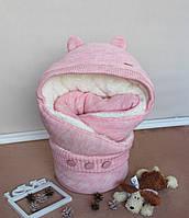 """Конверт для новорожденных """"Мишутка розовый"""", фото 1"""