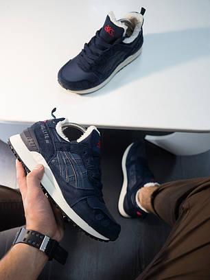 """Зимние кроссовки на меху Asics Gel-Lyte III """"Dark Blue"""" (Синие), фото 2"""
