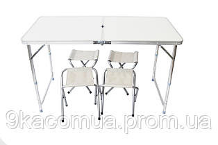 Стол 1200×600 мм с 4-мя стульями SCUBA