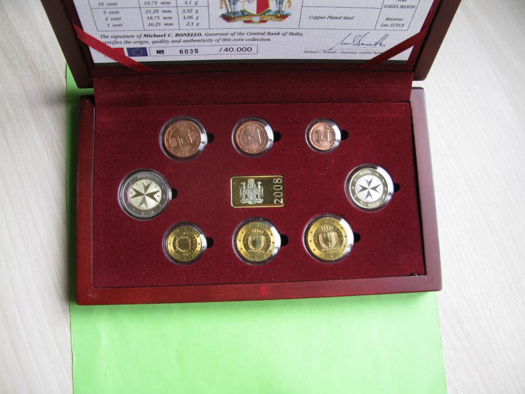 Мальта официальный набор евро монет 2008 г.