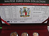 Мальта официальный набор евро монет 2008 г., фото 2