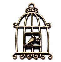 Подвеска «Клетка с птичкой» (L)