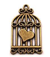 Подвеска «Сердце в клетке»