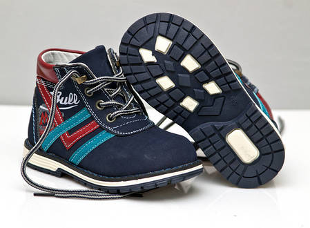 Детские демисезонные ботинки для мальчика синие 22р., фото 2