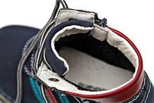 Детские демисезонные ботинки для мальчика синие 22р., фото 3