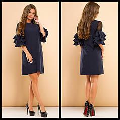 Платье с волановым рукавом
