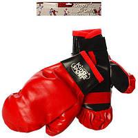 Боксерские перчатки M 2920 (72шт) 2шт, 21см, в кульке, 28-28-5см