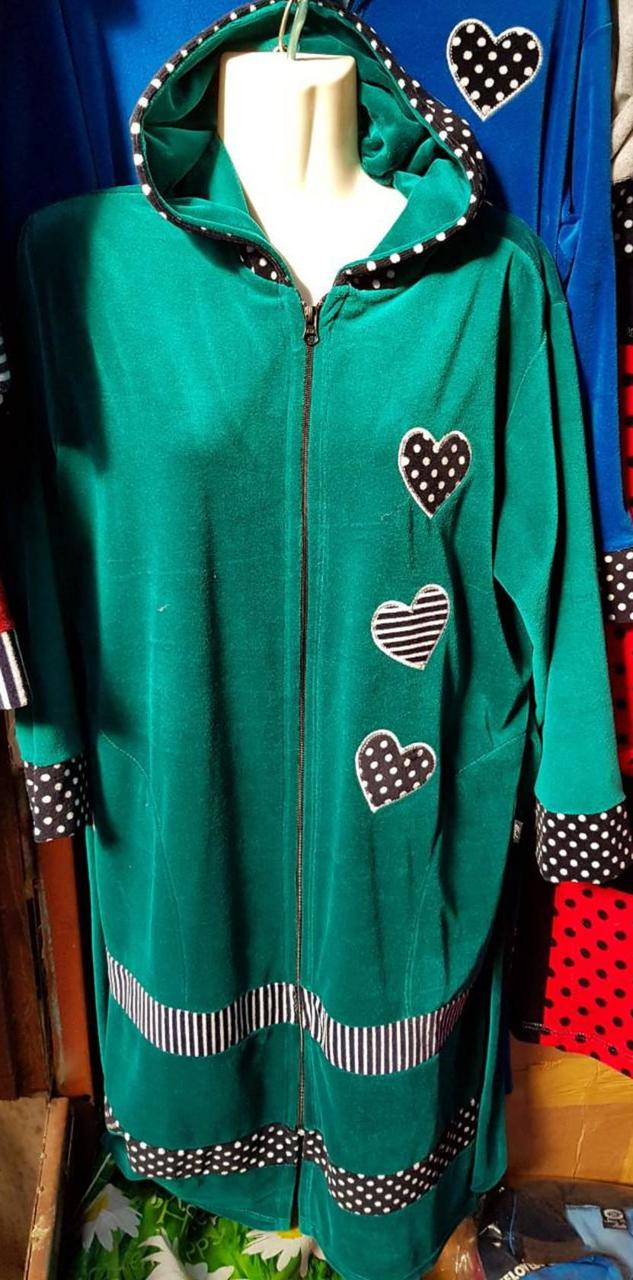 Домашний халат разных цветов с сердечками