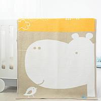 Плед-покрывало Baby Гиппо разные цвета 90*120