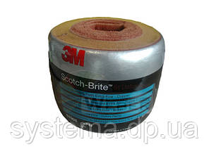 3M 07905 Sсotch-Brite™ CF-SR - Листы скотч-брайт в  рулоне, 150х 115 мм S XFN медный, 35 листов, фото 2