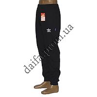 Мужские спортивные штаны с начесом A002-2 синие пр-во Украина оптом со склада в Одессе
