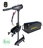 Электромотор Fisher 55 + аккумулятор Gel 150Ah, фото 1