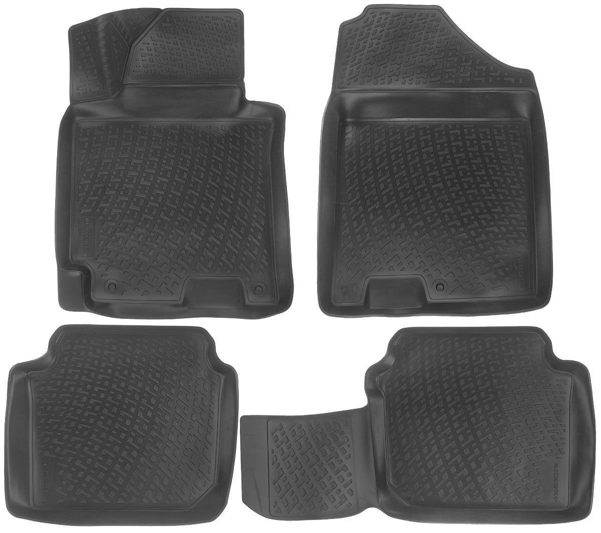 Килимки в салон для Hyundai Elantra (MD) (11-) поліуретанові 204030301