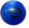 Мяч для художественной гимнастики, д-19см. Цвет синий, с блестками. TA Sport., фото 2