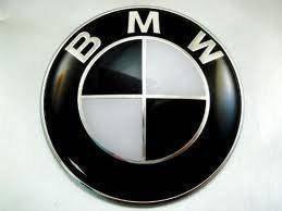 Эмблема на капот BMW (черная диаметр 83 мм)