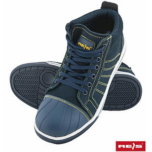 Ботинки рабочие BRFENCE GY со стальным подноском, покрыты нубуком,темно-синего цвета. REIS