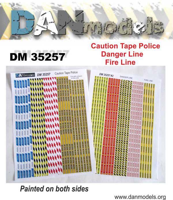 Матеріали для діорам. Поліційна і пожежна стрічки. 1/35 DANMODEL DM 35257