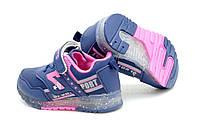 Детские сине-розовые кроссовки на липучке на девочку р.22,24 24