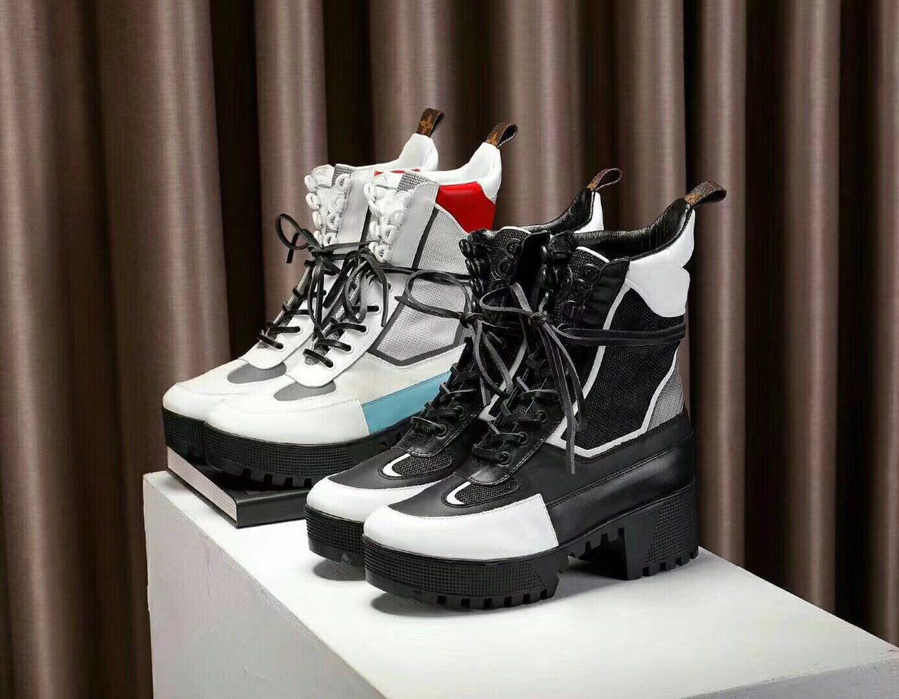 Женские высокие кожаные осенние ботинки Louis Vuitton CheckPoint. 2 расцветки