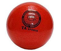 Мяч для художественной гимнастики, д-19см. Цвет красный, с блесткамиTA Sport.