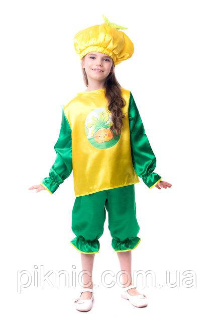 Детский карнавальный костюм Репка для детей 4, 5, 6, 7 лет Костюм Ріпка Репа девочек мальчиков 340