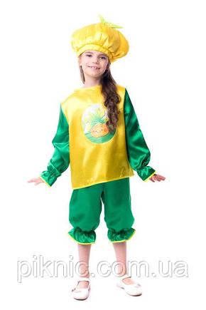 Детский костюм Репка для детей 4, 5, 6, 7 лет. Карнавальный костюм Ріпка, Репа для девочек и мальчиков, фото 2