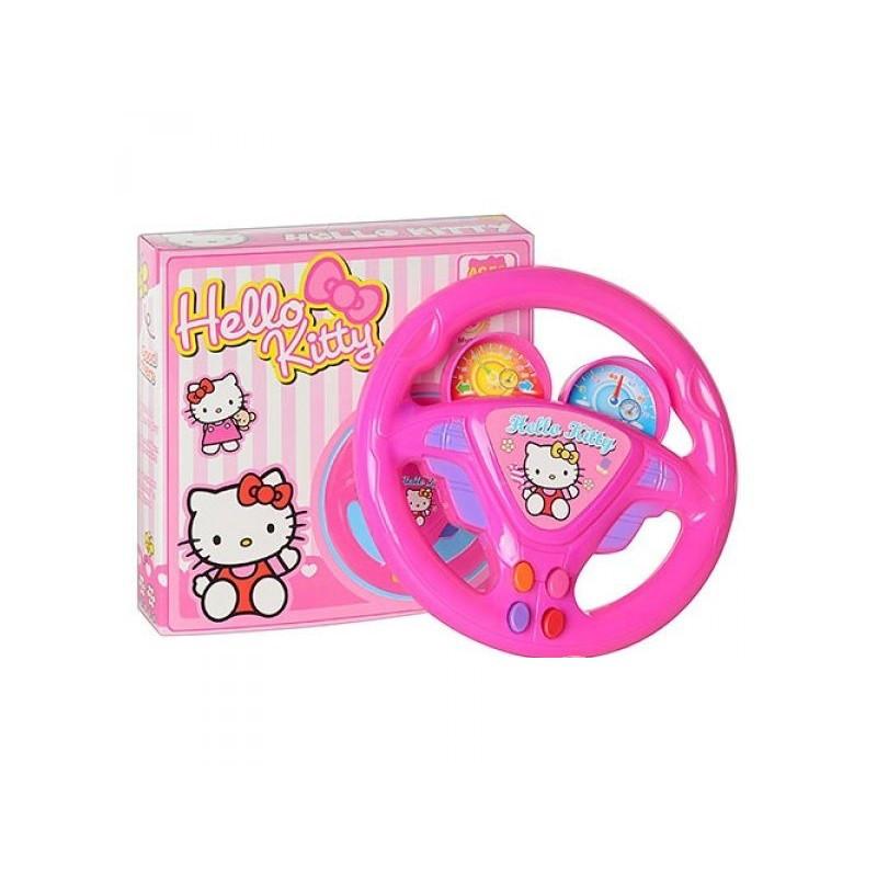 Кермо іграшкове 1876 Hello Kitty, на батарейках, музичне, в коробці 16 см