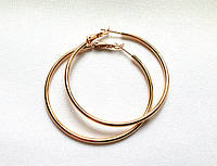 Серьги кольца ХР, диаметр 5,5 см, позолота