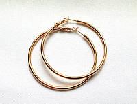 Серьги кольца ХР, диаметр 6 см, позолота