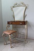 Туалетный столик кованый с банкеткой