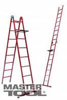 MasterTool Лестница универсальная металлическая 5 ступеней со столиком, 1340-3060 мм MasterTool 79-1015