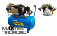 MasterTool Компрессор 50 л, 3,0 кВт, 420 л/мин. 8 атм, 2 выхода MasterTool КПП-50-2