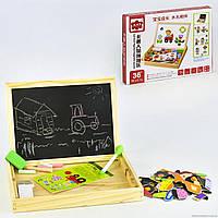 Деревянная игра с двухсторонней доской C 31359 (36)