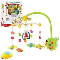 Іграшка карусель на ліжечко 34463 N, пульт, світло, таймер, 5 брязкалець, кнопки гучності (УЦІНКА)