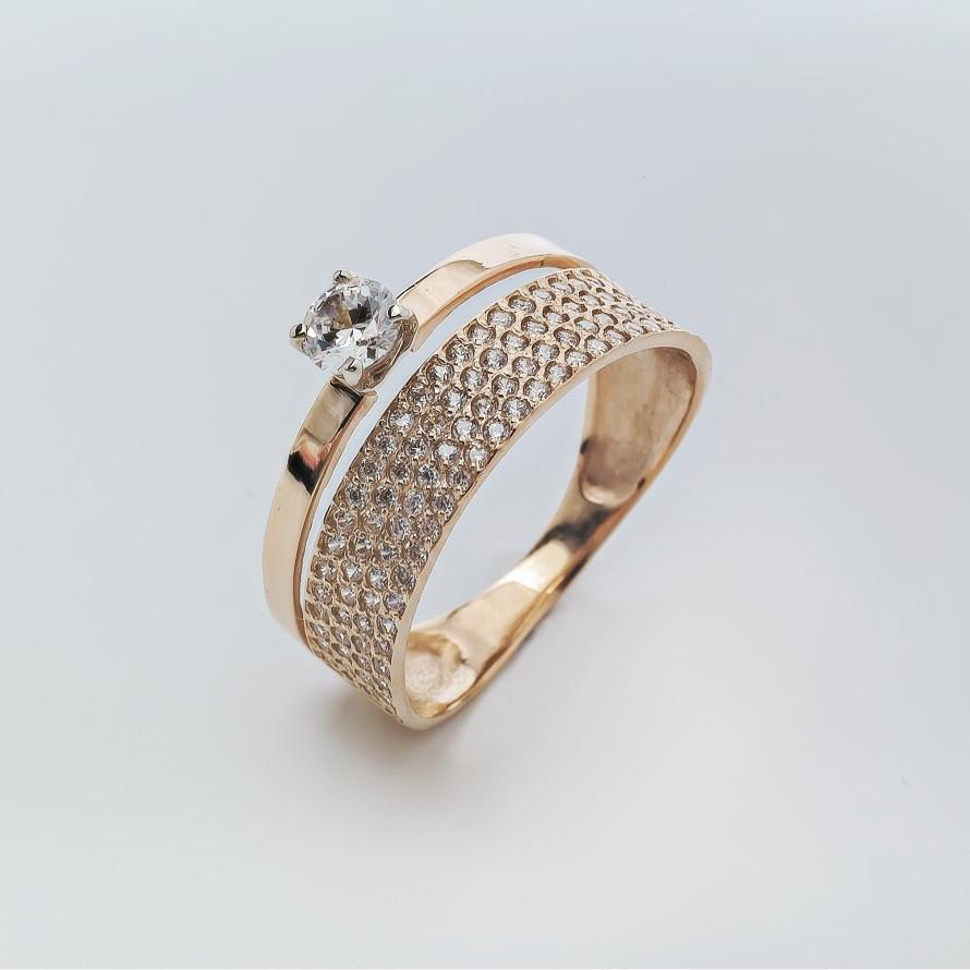 Золотое кольцо с фианитами. KП1618