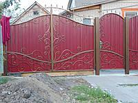 Ворота з профнастилу В-68