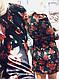Красивое женское бархатное платье розы с поясом, фото 6