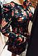 Красивое женское бархатное платье розы с поясом, фото 5