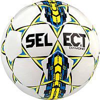 Детский футбольный мяч SELECT Diamond NEW бело-синий, размер 4