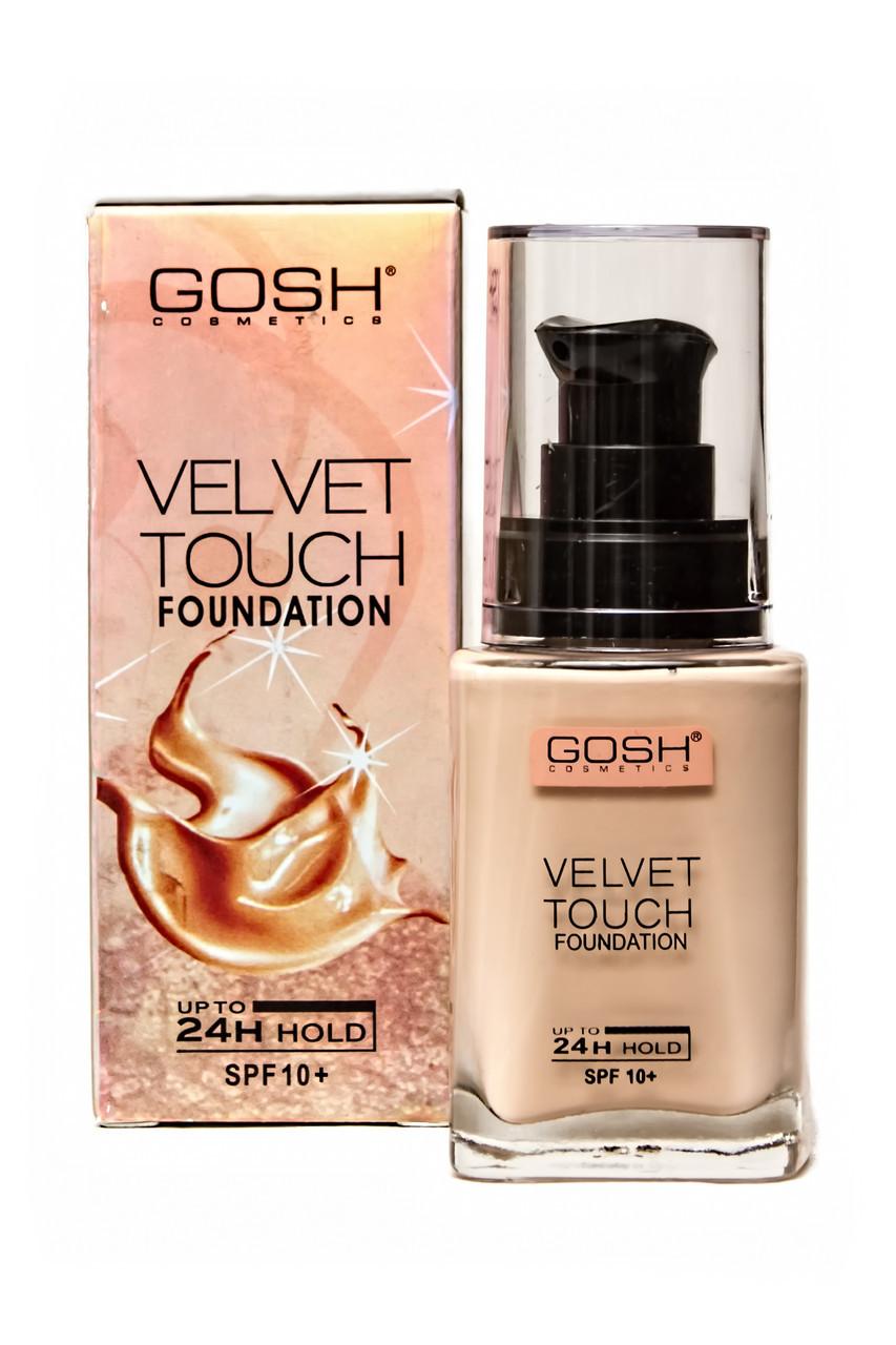 Тональный крем GOSH Velvet Touch Foundation 24H SPF 10+