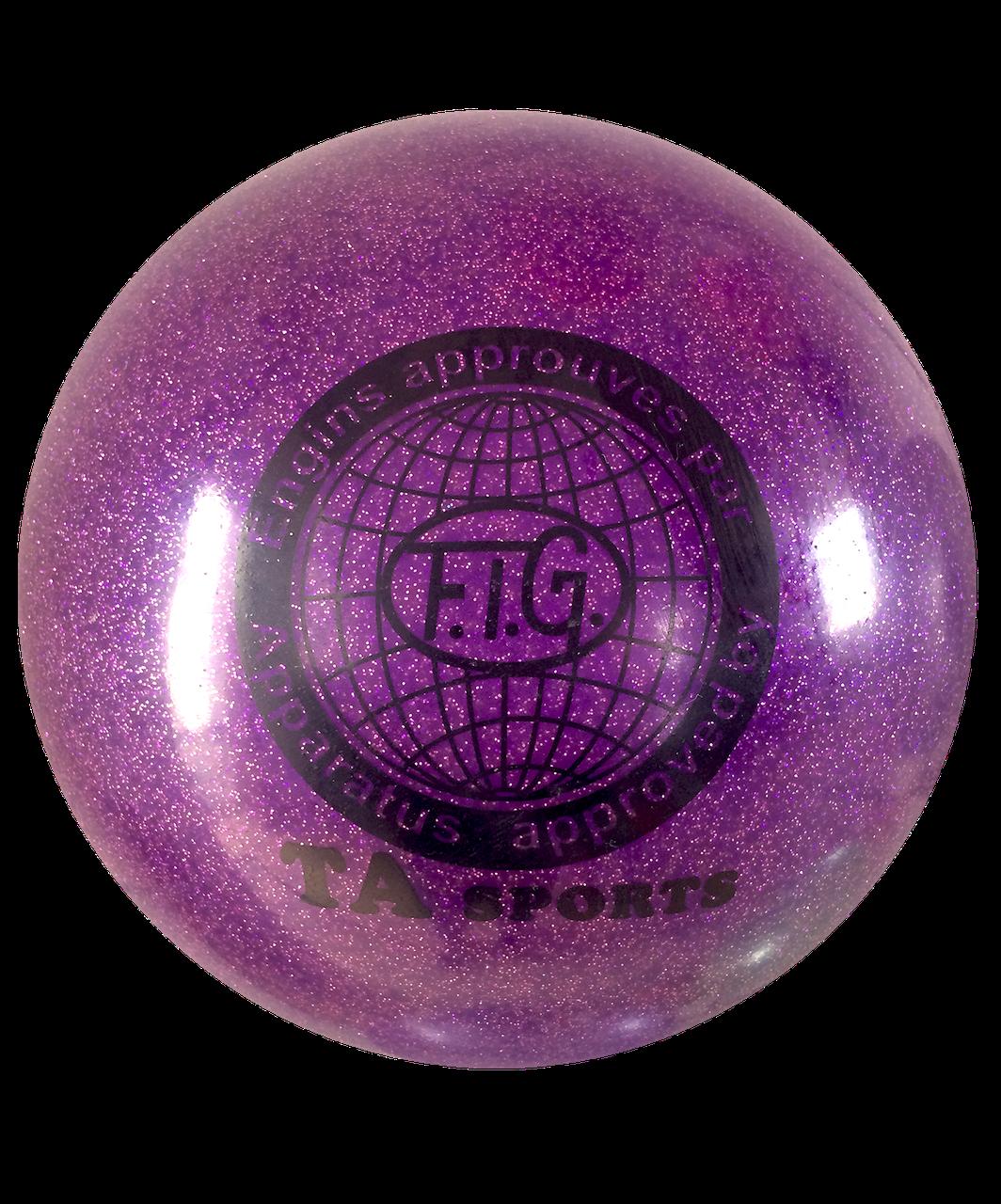 Мяч для художественной гимнастики, д-19см. Цвет фиолетовый, TA Sport.