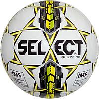 Мяч футбольный SELECT Blaze DB IMS бело-серо-желтый, размер 5