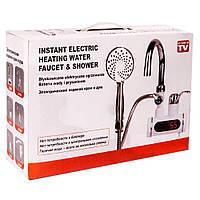 Проточный нагреватель воды для душа,водяной кран душ,бойлер,смеситель, фото 1