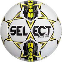 Детский футбольный мяч SELECT Blaze DB бело-серо-желтый, размер 4