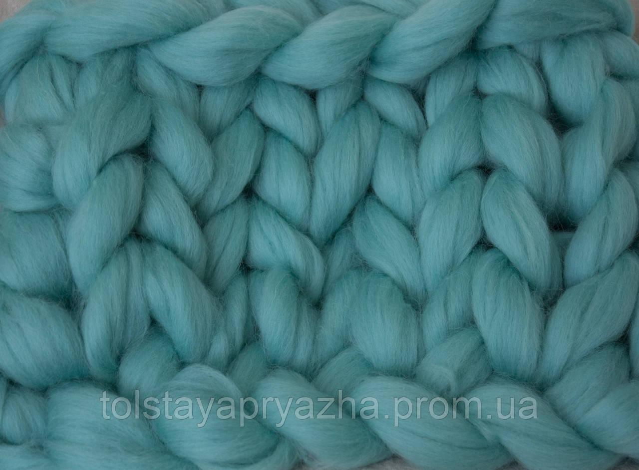 шерсть для пледа толстая пряжа серия кросс цвет мята цена 60 грн