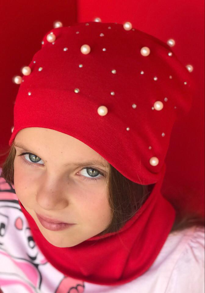 Детский набор  Шапка+ хомут  в расцветках 870659