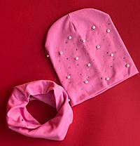 Детский набор  Шапка+ хомут  в расцветках 870659, фото 3