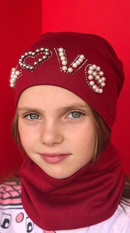 Детский набор  Шапка+ хомут  в расцветках 870662