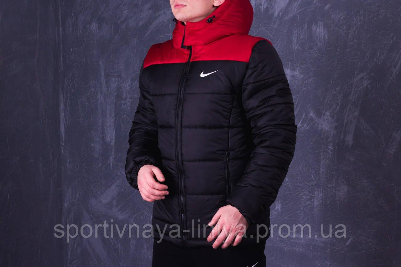 Мужская черная зимняя куртка Nike (реплика)
